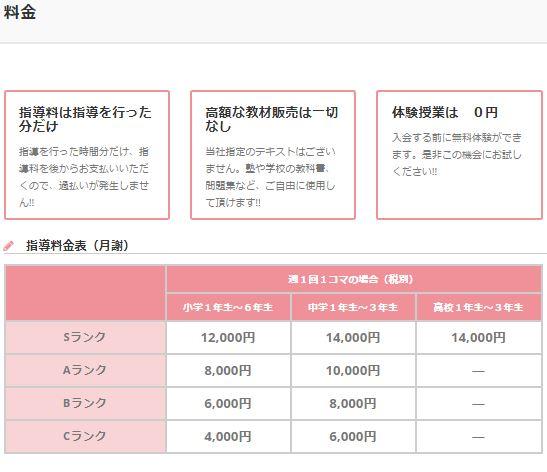 e-Live料金表1
